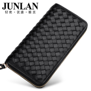 Junlan Chun LAN genuine female male wallet lambskin zip around wallet purse leather handbag women purse Han