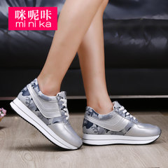 Microphone clicking fall 2015 new shallow high platform shoes casual sneaker women shoes women's shoes shoes