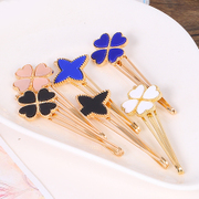 Know Richie four leaf clover pin clip Butterfly hair accessories Korean alloys bangs clip hairpin clip jewelry