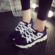 Fall 2015 new Korean air cushion shoes sports shoes women's shoes platform high students running shoes wave