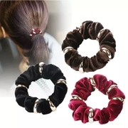 Know Connie hair accessories Korean velvet gold velvet ropes made by metal hair bands based band head ornaments