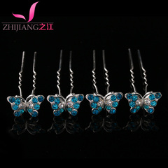 Zhijiang hair hair accessories rhinestone pin u-type hairpin Korea popular tiara bridal hairpin hair accessories