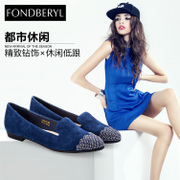 Fondberyl/feibolier-fall 2015 new Sheepskin TOU Shui drilled low women's shoe FB53112931