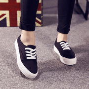 Clearance specials-thick muffin with small white shoe tip increased students ' casual shoes sneakers women a solid color surge