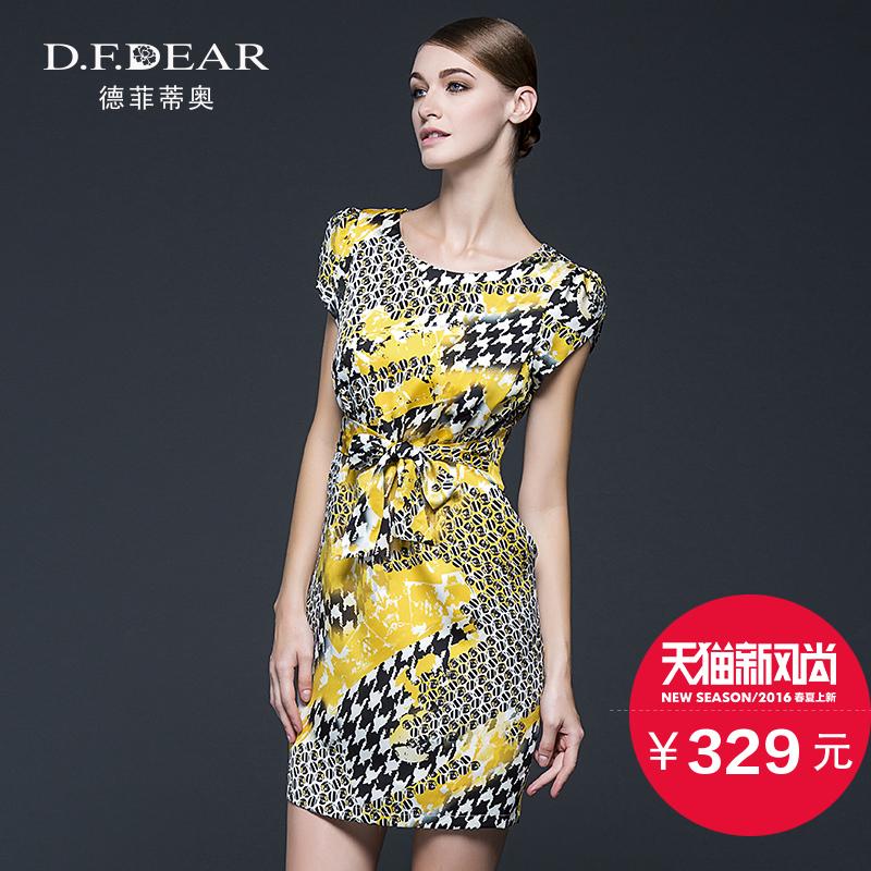 夏新品时尚印花女短袖连衣裙韩版显瘦潮