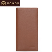 Honggu Hong Gu 2015 counter genuine suede leather long bi-fold men's wallet business casual 7901