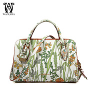 Wanlima/around 2016 new handbag store in early spring with printed leather women bag handbag