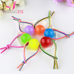 Jiang made color high elastic rope Candy-colored string in bold clean longer elastic string thick ponytail hair bands