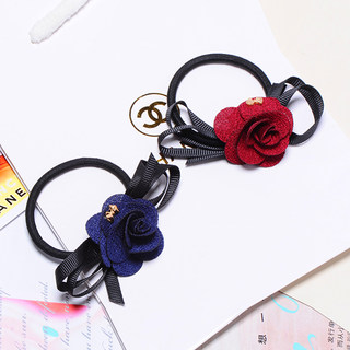 Know Connie hair accessories Korean flower flower head headdress trinkets made by the Han Shi ponytail elastic hair tie rope