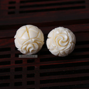 White resin bead rose flower ball loose beads resin flower beads barrel bead DIY Xingyue Bodhi accessories