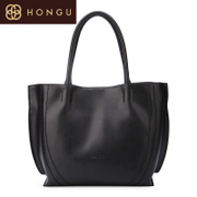 Honggu 2016 Shoppe red Valley Ms genuine new European fashion solid color leather portable bag 6537