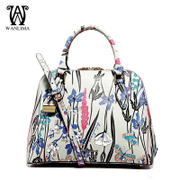 New Wan Lima 2015 winter tide girls European fashion printed leather shoulder bag shells Crossbody bag