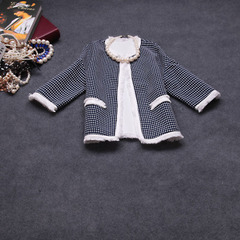 2015 spring temperament Joker new Europe and small fields breathe sweet Plaid jacket #