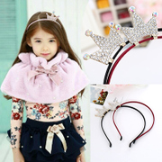 Know NI children Princess rhinestone Crown stereo headband rabbit ears headband hairpin girls hair accessories