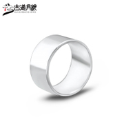 Silver handmade sterling silver ring road months s990 pure silver men lovers smooth ring width ring banzhi 3040