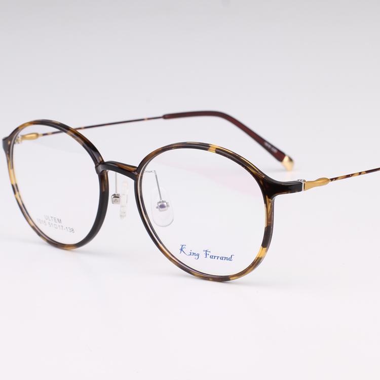 超轻TR90韩国文艺眼镜架 复古近视眼镜框小脸全框细边豹纹眼镜女