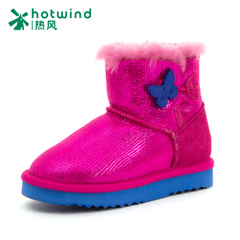 Hot new styles in winter bow shoes low flat cylinder with non-slip shoes snow boots girls 69F4714
