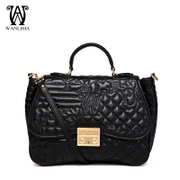 Wan Lima counters Ms small fields breathe sweet water chestnut leather women bag handbag Luxury baodan shoulder Messenger bag