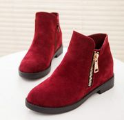 C2015 Martin boots, spring and autumn wave of British leisure with short boots women high ankle boots flat boots
