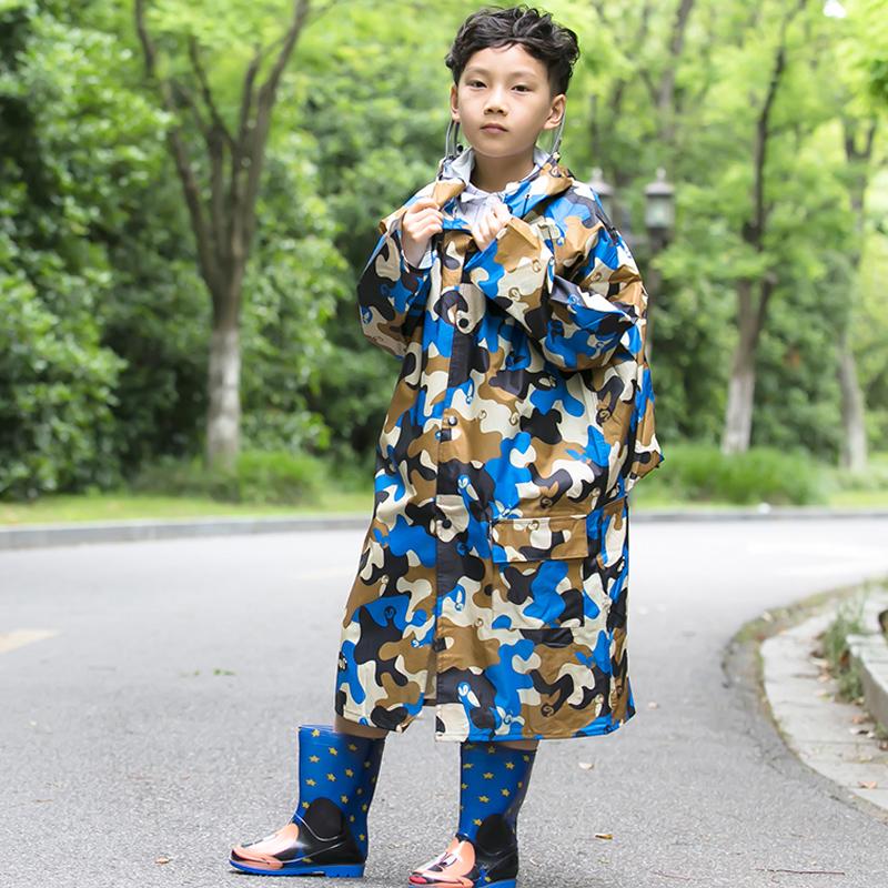 太空儿童雨衣小孩学生幼儿园宝宝雨披男童女童韩版防水雨衣带书包