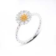 Full of ornaments you Chrysanthemum ring 925 Silver lovers rings fashion female temperament wind wild ladies ring