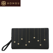 Honggu red Valley fall/winter handbags counters authentic European fashion leather ladies wallet new purse 6645