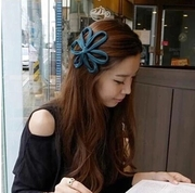 Know Connie hair accessories Korean fabric cut flowers Butterfly alligator clips small hairpin wide thin headband