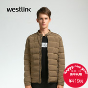 Westlink/West New 2015 winter base Joker Hat-free zipper thick down jacket men's jacket