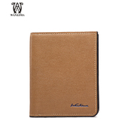 Wanlima/around 2016 new man bag leather men's wallet European fashion short men's wallets