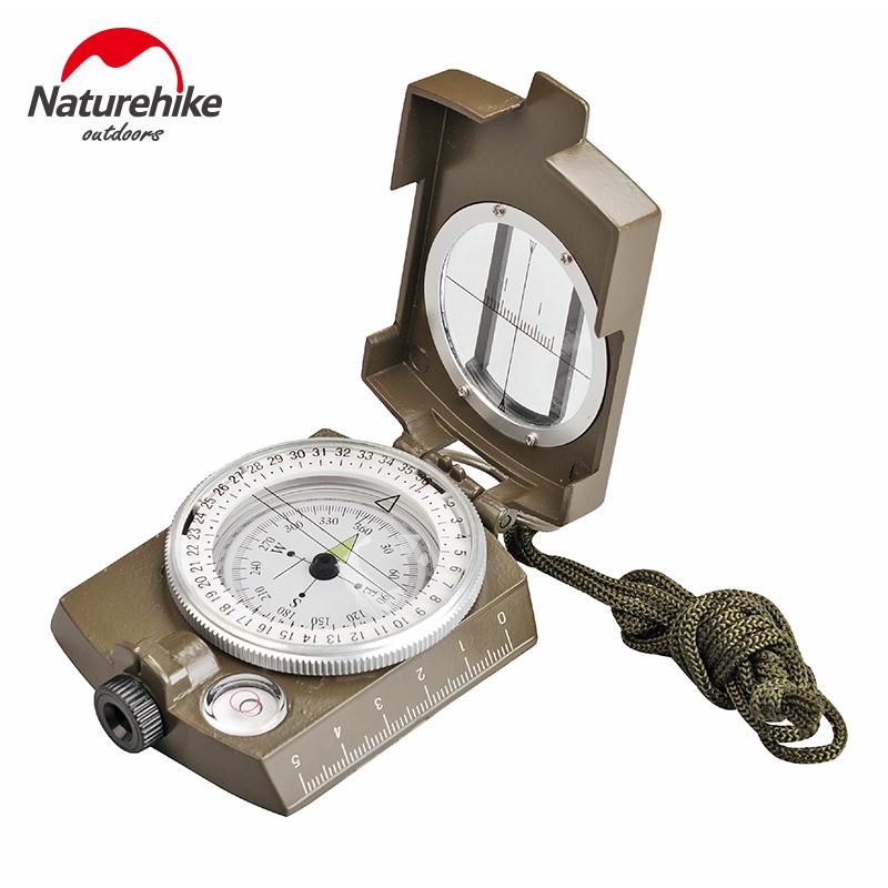 NH多功能指南针户外野营登山定向越野指北针地质罗盘仪夜光防水