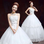 Bridal wedding gowns 2015 new Korean self slim gown with a fitted bodice strap snap spring and summer plus size
