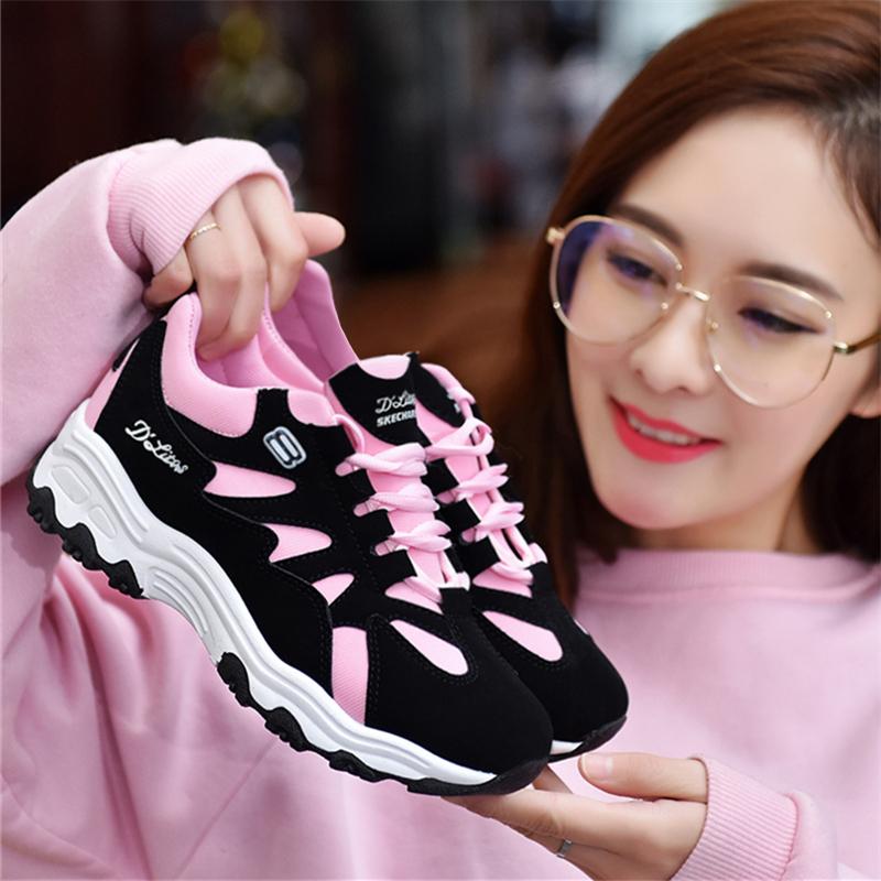 2018秋新款运动鞋女韩版学生ulzzang鞋子原宿百搭休闲女鞋跑步鞋