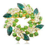 Good Korean brooch jewelry rhinestones brooch pin fashion jewelry rhinestone accessories package mail
