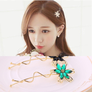 Know Connie hair accessories flower Barrette Korean flower hairpin clip bangs clip Clip hair ACC