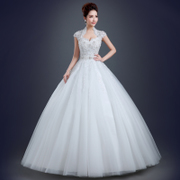 Simple spring 2015 new fashion pack shoulder plus size slim slimming bridal wedding dresses one shoulder dress in summer
