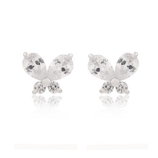 Good Korean bow fashion zircon earrings women Korea Joker ladies earrings fashion fine jewelry