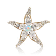 Good post good Japanese and Korean Super Flash rhinestone brooch pin cute Starfish Korea shawl pin jewelry women