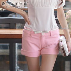 Shorts Women big pink doll summer 2015 casual slim fit slim cuffed pants new shorts children