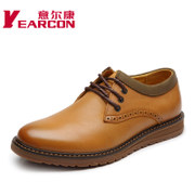 YEARCON/Kang authentic englon trend of men's casual shoes, men's leather strap comfortable strap shoe