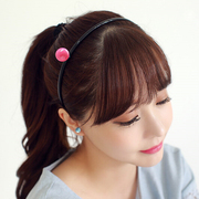 Know Connie hair Korea genuine hair accessories headband Korean ball macarons Lady head band head acrylic hoops