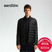 Westlink/2015 West new men's slim collar cropped cotton black warm winter jacket