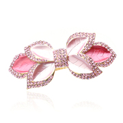 Ya na genuine full rhinestone top clamp horizontal clamp Crystal hair accessories Korean Barrette ponytail clip flower hair