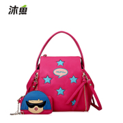 2015 new autumn and winter fashion Korean stars printed single or double shoulder women bag Crossbody bag backpack dual-use surge