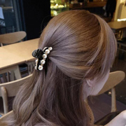 Cool na Korean hair ornament hair ornament hairpin rhinestone faux pearls Korean bangs clip catch made by small medium clip 6141