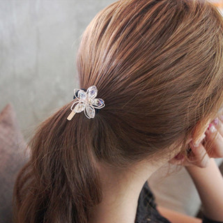 Know Connie hair accessories Korean Crystal beaded flower hair tie flower hair band hair band hair rope end head accessories