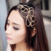 Know NI the Korean version of hollow braid hair band headband gold hair accessories headband tiara Europe Fan Fa jewelry