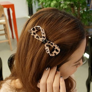 Know NI Korea jewelry provided a clip of Leopard 8 word clip bow-tie fashion hair accessories hair clip hair bangs clips