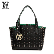 Wanlima/million 2015 new leather ladies bags handbags a solid color for fall/winter fashion Tote handbag