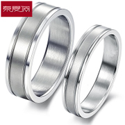 New year custom romantic couple ring is simple to quit Korean creative titanium jewelry free engraving