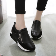 Platform high shoes women's shoes in Korean version of the spring and autumn student flat casual shoes sneakers Korea black running shoes